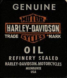 Harley Davidson Motor Oil Motorcycle B&S Motorcycle Biker Emblem Patch EM212302