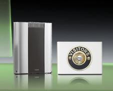 Libra+ Pro 200m Kabellose Türklingel Set Messing Besucher Druckstange/weiß