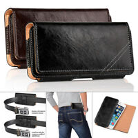 For Apple iPhone 7 6 6S Plus Premium Leather Case Cover Holster Belt Clip Pouch