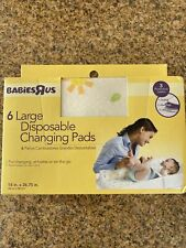 6 Large Disposable Baby Changing Pads