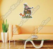 "Hunting Hunter Rifle Funny Cartoon Gift Wall Sticker Room Interior Decor 20""X25"""