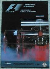 MONACO GRAND PRIX FORMULA ONE 2001 F1 Motor Sport Official Race Programme