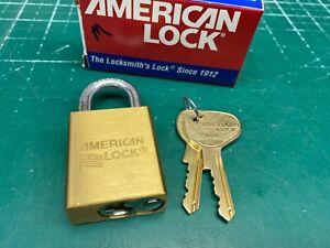 American Edge Lock Brass Padlock - Restricted System - Locksmith Locksport