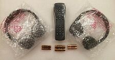 GM OEM headphones +remote for DVD rear seat video entertainment system Chevy GMC