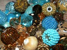 NEW BLUE/Brown 25/pc Jesse James beads lot loose Beads mixed RANDOM PICK (bl1)