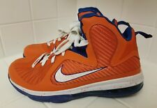 Rare Mens Nike Lebron 9 Swingman Basketball Shoe Orange/Blue/White Size 10