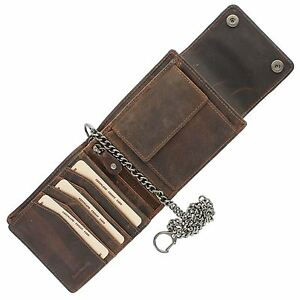 Greenland-Nature MONTANA Gents Leather Biker Wallet With Security Chain 192