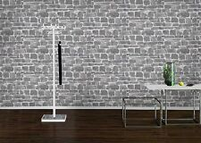 Stone Wall Effect Wallpaper by Rasch - Grey 265620