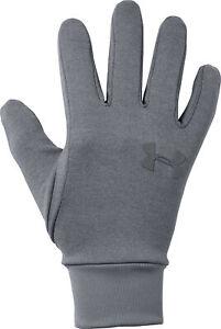 Under Armour Liner 2.0 Running Gloves Grey Ultra Soft Knit Warm Winter Glove