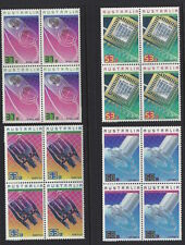 Australia 1987 Achievements in Technology Block of 4 Stamp Set