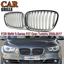 Pair for BMW F07 Gran Turism 2009-2016 Silver Front Grilles Kidney Vent Grills