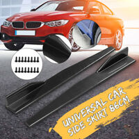 Carbon Fiber Look 86CM Side Anti-scratch Skirt Spoiler Rocker Splitter