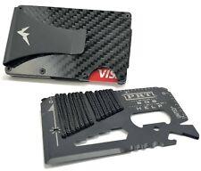 EDC Tactical Wallet Multitool Slim Minimalist RFID Blocking Carbon Fiber Wallet