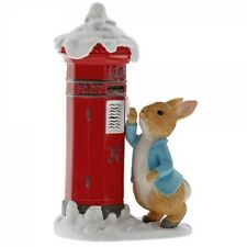 Beatrix Potter Peter Rabbit`s Letter to Santa Figurine NEW in Gift Box