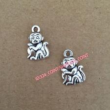 P144 15pc Tibetan Silver monkey Charm Beads Pendant Jewellery Making wholesale