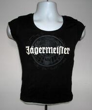 WOMENS SLEEVELESS JAGERMEISTER T SHIRT MEDIUM STAG LOGO BLACK