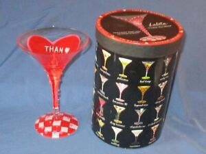 LOLITA Hand Painted Martini Glass I LOVE YOU MORE With Recipe Boxed