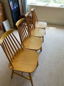 4 quaker ercol style dining chairs