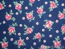 Stoff Baumwolle ♥ rosali Rosen Röschen ♥ blau shabby Trachten Dirndl Schürze