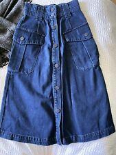 Whistles Gorgeous Denim Pocket Midi Skirt Uk4