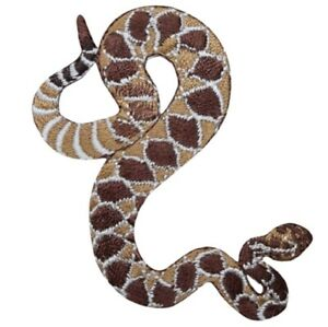 "Snake Applique Patch - Western Diamond, Carnivorous Reptile 3"" (Iron on)"