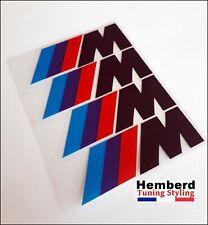4x Stickers  /M BMW Motorsport Logo étrier de frein AUTOCOLLANTS en noir