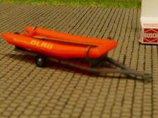 DLRG H0 Modell 1:87 Busch 59951 Anhänger mit Motorboot