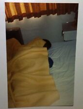 Vintage 70s Found PHOTO Family Taking Turns Sleeping In Crowded Motel Room Bed 1