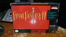 Final Fantasy II 2 Complete Game SNES Super Nintendo CIB FFII FF2 Nice