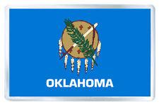 OKLAHOMA USA FLAG FRIDGE MAGNET SOUVENIR IMAN NEVERA
