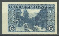 BOSNIA AND HERZEGOVINA 1906 - 6h. blue PROOF-PROBEDRUCK Mi. 33U NG AS ISSUED