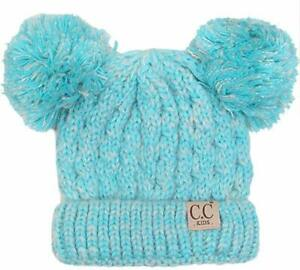 C.C Cute Toddler Kids Girl&Boy Pom Winter Warm Crochet Knit Hat Beanie Cap cc