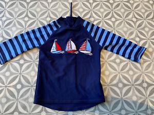 JoJo Maman Bebe Boys Nautical Swimwear Rash Vest - Size 1-2 Years - New No Tags