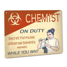 Chemist On Duty Sign Female Edition Chemistry Inspiring Exam Prep Wall Decor