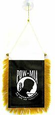 POW-MIA Flag Hanging Car Pennant for Car Window or Rearview Mirror