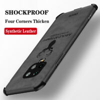 For Xiaomi Redmi Note 9S 9 8 7 6 Pro Shockproof Silicone TPU Leather Case Cover