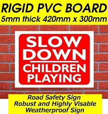LARGE SLOW DOWN CHILDREN PLAYING SAFETY/WARNING SIGN ROAD SAFETY SIGNS