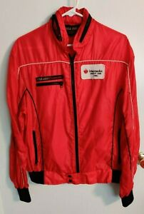 Vintage 1981 Style Auto Intermedics Indy 500 Racing Team Men's Red Jacket Large