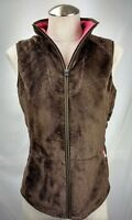 The North Face Womens Osito Fleece Vest Jacket Size Medium Brown Plush Full Zip