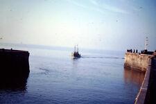 Vintage Kodak Photo Slide Negative - Fishing Boat On Sea (uknown location)