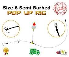 No. #6 Semi-Barbed Pop Up wire Trace BUY 4 GET 1 FREE Pike Fishing Dead Bait Rig