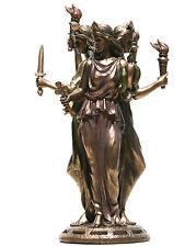 "Hecate Hekate Greek Triple Goddess of Magic Statue Sculpture Bronze Finish 8.2"""