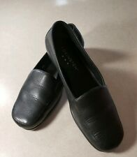 Covington Womens Leather Loafers Flats Black Driving Shoes Size 6M
