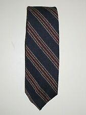 Vintage 50s 60s Hardy Amies London Navy Red Stripe Wool Men'S Neck Tie