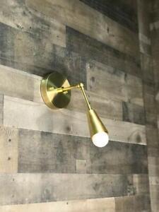 Arch Wall Lamp Brass Swing Arm Lamp made from brass handmade brass lamp