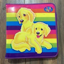 Vintage Lisa Frank Lab Puppies Mint Condition Trapper Keeper Binder With Folders