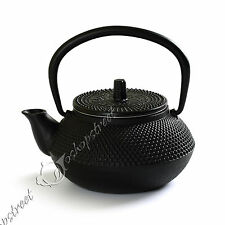 NEW 300ml Black Hobnail Tetsubin Kettle Cast Iron Tea pot Infuser Filter Teapot