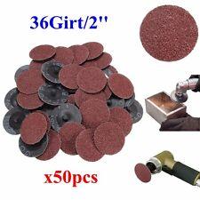 50Pcs 36 Grit 2' Roll Lock Sanding Discs Type R Roloc Fits for   Abrasive