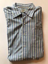 Men's L.L Bean Striped Shirt Button Down Sharp  Dress Shirt Large L Tall  C1