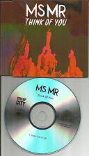 MS MR Msmr Think of you 2TRX w/ RARE RADIO EDIT PROMO DJ CD single 2013 USA